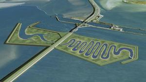 Impressie van de nieuwe Afsluitdijk