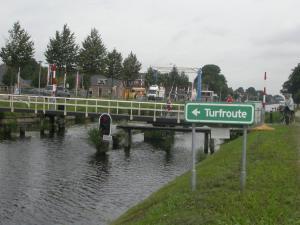 Turfroute gezien vanuit de Drentse Hoofdvaart