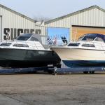 Twee Marco 860 jachten op de werf van Jachtbouw Succes