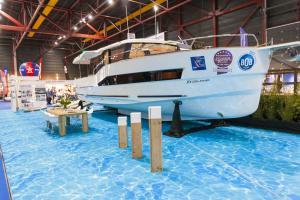 Een nieuwe boot tijdens Boot Holland 2018
