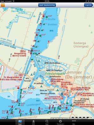 ANWB Waterkaarten in app view